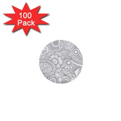 Ornament Vector Retro 1  Mini Buttons (100 Pack)