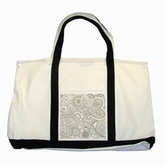 Ornament Vector Retro Two Tone Tote Bag