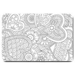 Ornament Vector Retro Large Doormat