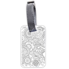 Ornament Vector Retro Luggage Tags (one Side)
