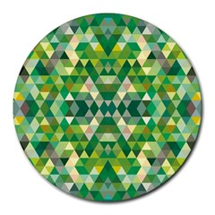 Forest Abstract Geometry Background Round Mousepads
