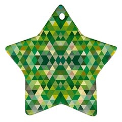 Forest Abstract Geometry Background Ornament (star)