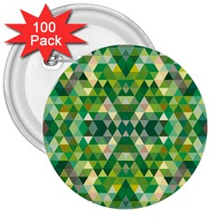 Forest Abstract Geometry Background 3  Buttons (100 Pack)