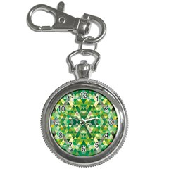 Forest Abstract Geometry Background Key Chain Watches