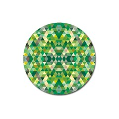 Forest Abstract Geometry Background Magnet 3  (round)