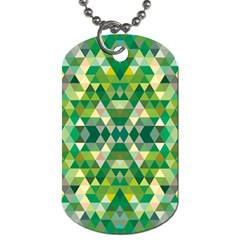 Forest Abstract Geometry Background Dog Tag (two Sides)