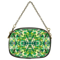 Forest Abstract Geometry Background Chain Purses (one Side)