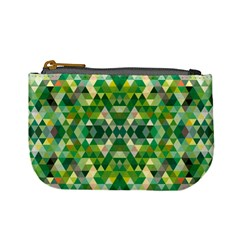 Forest Abstract Geometry Background Mini Coin Purses
