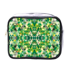 Forest Abstract Geometry Background Mini Toiletries Bags