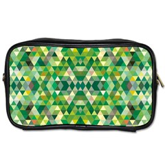 Forest Abstract Geometry Background Toiletries Bags 2 Side