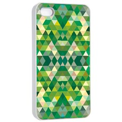 Forest Abstract Geometry Background Apple Iphone 4/4s Seamless Case (white)
