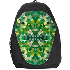 Forest Abstract Geometry Background Backpack Bag