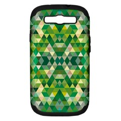 Forest Abstract Geometry Background Samsung Galaxy S Iii Hardshell Case (pc+silicone)
