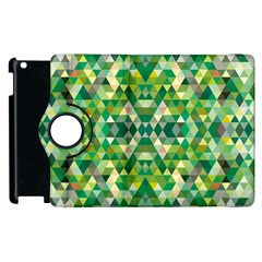 Forest Abstract Geometry Background Apple Ipad 2 Flip 360 Case
