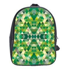 Forest Abstract Geometry Background School Bag (xl)