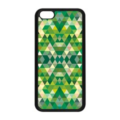 Forest Abstract Geometry Background Apple Iphone 5c Seamless Case (black)
