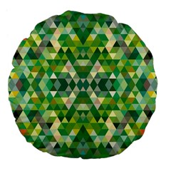 Forest Abstract Geometry Background Large 18  Premium Flano Round Cushions