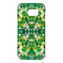 Forest Abstract Geometry Background Samsung Galaxy S7 Edge Hardshell Case
