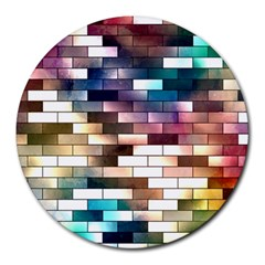 Background Wall Art Abstract Round Mousepads