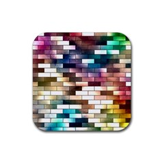 Background Wall Art Abstract Rubber Square Coaster (4 Pack)