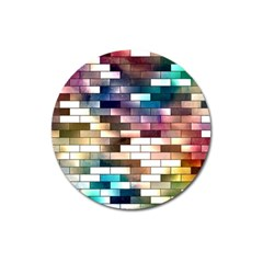 Background Wall Art Abstract Magnet 3  (round)