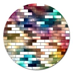 Background Wall Art Abstract Magnet 5  (round)
