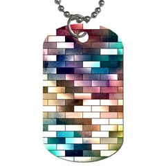 Background Wall Art Abstract Dog Tag (one Side)