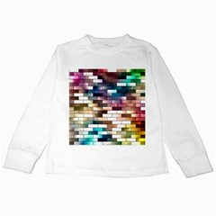 Background Wall Art Abstract Kids Long Sleeve T Shirts