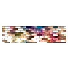 Background Wall Art Abstract Satin Scarf (oblong)