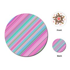 Background Texture Pattern Playing Cards (round)