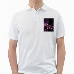 Texture Abstract Background City Golf Shirts