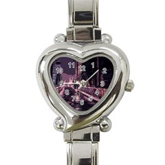 Texture Abstract Background City Heart Italian Charm Watch