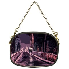 Texture Abstract Background City Chain Purses (one Side)