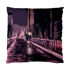 Texture Abstract Background City Standard Cushion Case (two Sides)