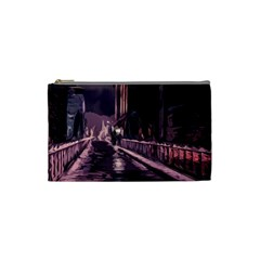 Texture Abstract Background City Cosmetic Bag (small)