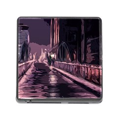 Texture Abstract Background City Memory Card Reader (square)