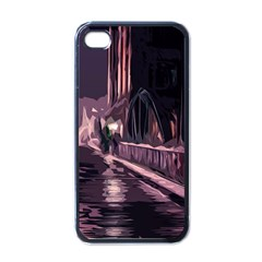 Texture Abstract Background City Apple Iphone 4 Case (black)