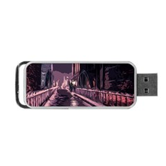 Texture Abstract Background City Portable Usb Flash (one Side)