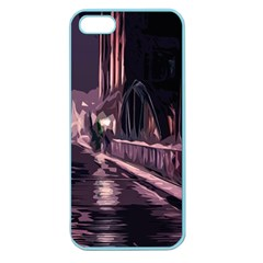 Texture Abstract Background City Apple Seamless Iphone 5 Case (color)