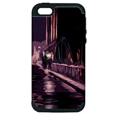 Texture Abstract Background City Apple Iphone 5 Hardshell Case (pc+silicone)