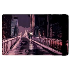 Texture Abstract Background City Apple Ipad 2 Flip Case