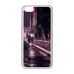 Texture Abstract Background City Apple Iphone 5c Seamless Case (white)