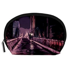 Texture Abstract Background City Accessory Pouches (large)