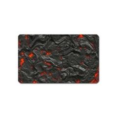 Rock Volcanic Hot Lava Burn Boil Magnet (name Card)