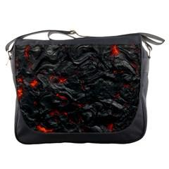 Rock Volcanic Hot Lava Burn Boil Messenger Bags