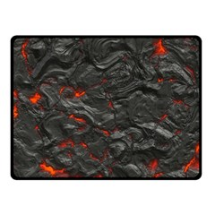 Rock Volcanic Hot Lava Burn Boil Double Sided Fleece Blanket (small)