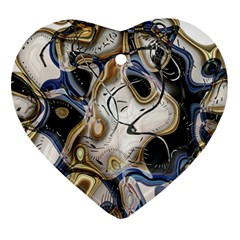 Time Abstract Dali Symbol Warp Ornament (heart)
