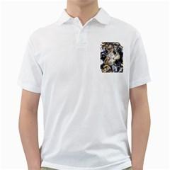 Time Abstract Dali Symbol Warp Golf Shirts