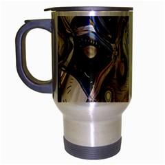 Time Abstract Dali Symbol Warp Travel Mug (silver Gray)