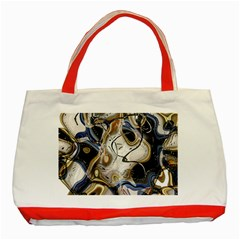 Time Abstract Dali Symbol Warp Classic Tote Bag (red)